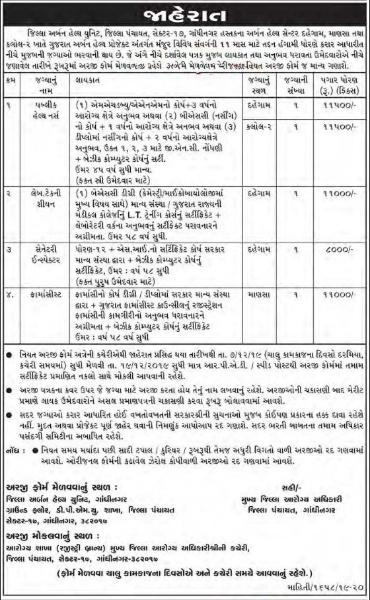 District Urban Health Unit, Gandhinagar Recruitment for Various Posts 2019